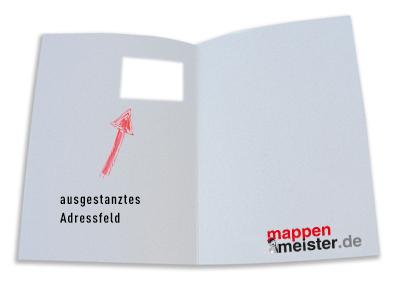 Mappe mit ausgestanztem Adressfeld